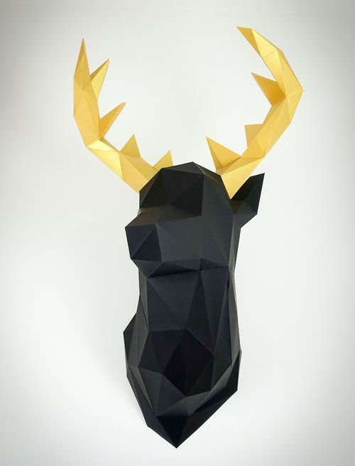 Deer Wall Decoration Low Poly