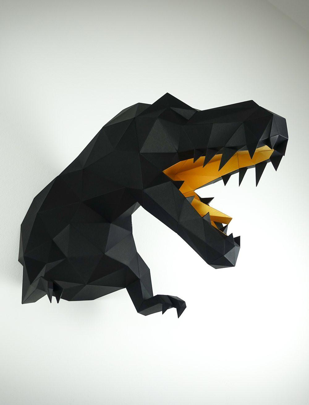 Mind-Blowing Origami Dinosaur Skeletons | Origami.me | 1310x1000